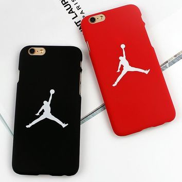 Luxury Basketball Brand Jordan PC Painting hard cover case for iphone 5s 6 6s plus cas