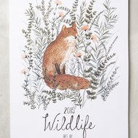 Wildlife 2015 Calendar by Anthropologie Multi One Size House & Home