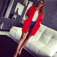 Long Sleeve Open Front Jacket