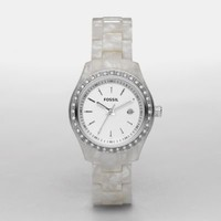 FOSSIL Watch Styles Delicate:Womens Stella Mini Resin Watch - Pearlized White ES2670