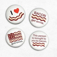 Bacon Love - Set of 4 Magnets - Whimsical & Unique Gift Ideas for the Coolest Gift Givers