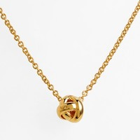 Women's kate spade new york 'dainty sparklers' knot pendant necklace