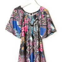 FLORAL PAISLEY TUNIC DRESS GIRLS