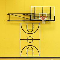 Vinyl Wall Decal Sticker Basketball Coach Play Board #1320