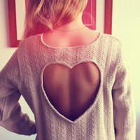 Heart Back sweater