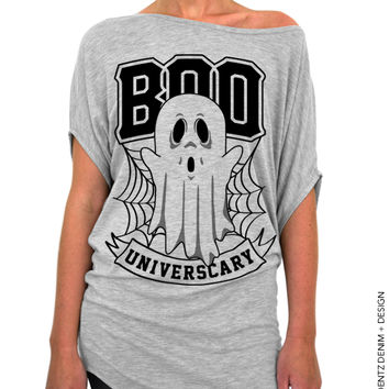 BOO Universcary – Off the Shoulder Slouchy Tee
