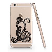 Mermaid Clear Transparent Plastic Phone Case for Iphone 6 6s_ SUPERTRAMPshop