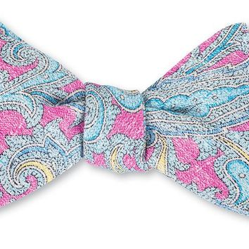 Pink Neville Paisley Bow Tie - B4177