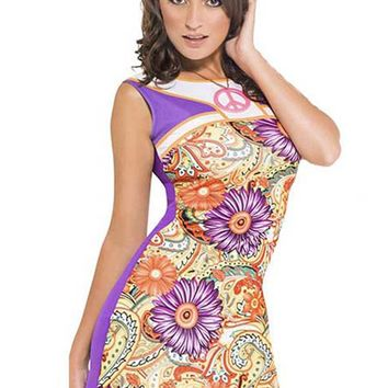 Atomic 1960's Flower Power Mini Dress