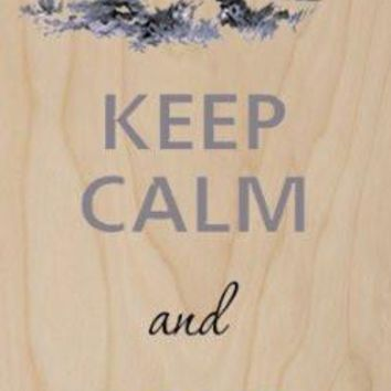 Keep Calm and Love Hedgehogs - Plywood Wood Print Poster Wall Art