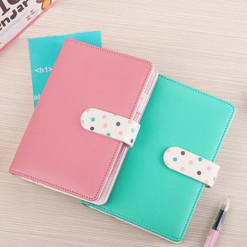A6 Faux Leather Spiral Notebook Business Personal Daily Memos Travel Journal Notepad Agenda Planner Organizer Office Soft Books