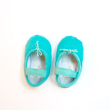Turquoise Baby Ballet Flats