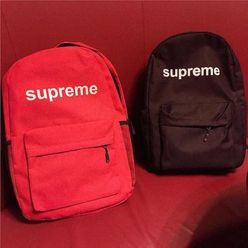 Stylish street fashion supreme Backpack School Bag Daypack Travel Bag