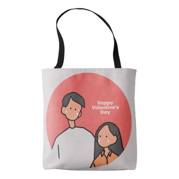 Love (Happy Valentine's Day) Tote Bag