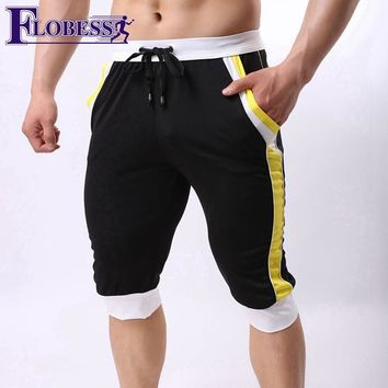 FLOBESS 2018 Mens Shorts Summer Running Sports Short Men Stripes Quick-drying Slim Fitness Gym Sportwear Workout Jogger Shorts