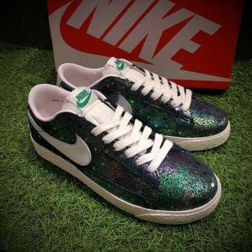 Best Online Sale Nike Blazer SDE Low And Mid Skateboard Green Casual Shoes