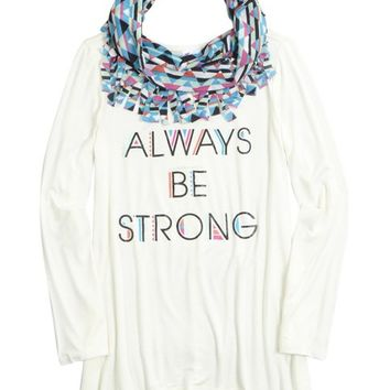 LONG TEE SCARF 2FER | GIRLS LEGGINGS CLOTHES | SHOP JUSTICE