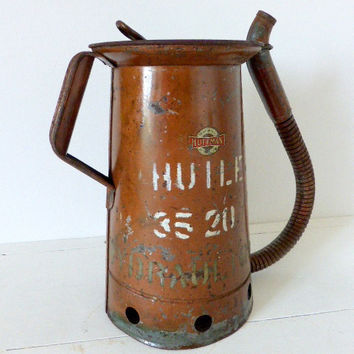Vintage Huffman 1 Gallon, Swing Spout Oil Can, Loft Industrial, Petroliana
