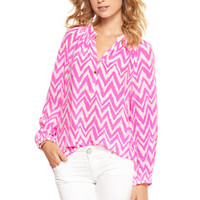 Elsa Top - Tropical Pink Get Your Chev On - Lilly Pulitzer