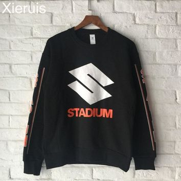 XIERUIS 2017 Autumn New Men Sweatshirts Justin Bieber Purpose Tour Pullover Crewneck Hoodie Men Suzuki Stadium Sweatshirt
