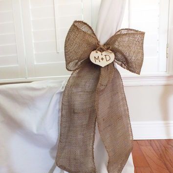 Burlap Bows Or Burlap Pew Bows Burlap Wedding Decor Set Of Six