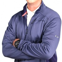 Performance Jersey 1/4 Zip in Ocean Splash Blue by Vineyard Vines