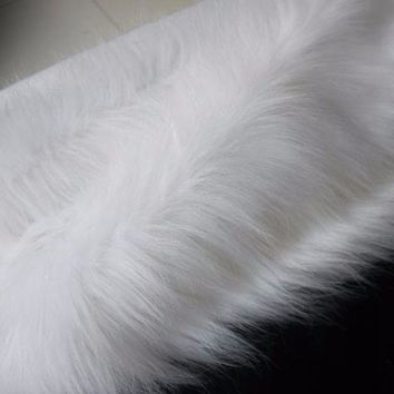 Plush Faux Fur Fabric Cloth Mat Craft Decoration DIY Upholstery Multi-functional
