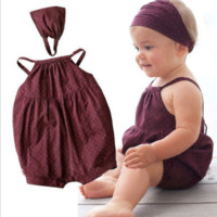 Baby Girls Rusty Romper with headband