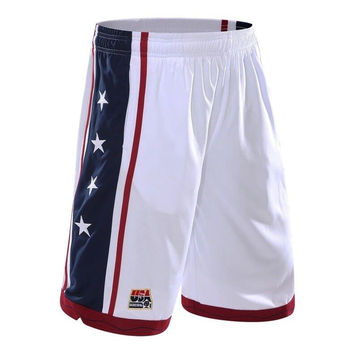2017 USA The American dream team Men's basketball shorts breathable shorts male summer training run 5 minutes of  men's shorts