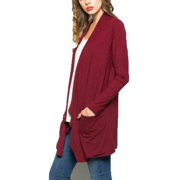 Draped Pocket Cardigan