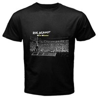 rise againt black T-shirt Size S, M, L, XL, 2XL, 3XL, 4XL, and 5XL