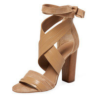 Beatrice Leather & Suede Sandal by Vince at Gilt