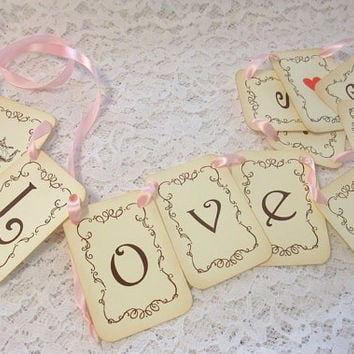 Love is Brewing Banner Tea Party Bridal Shower Engagement