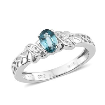 Cambodian Blue Zircon Sterling Silver Ring