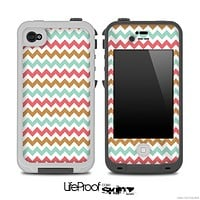 Brown and Blue Chevron V2 Pattern for the iPhone 5 or 4/4s LifeProof Case