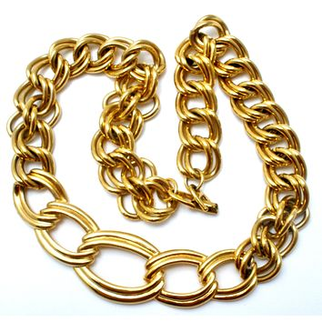 Chunky Napier Link Chain Necklace Vintage