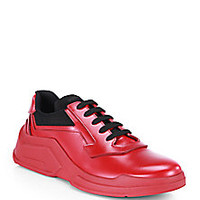 Prada - Spazzolato Laced Runway Sneakers - Saks Fifth Avenue Mobile