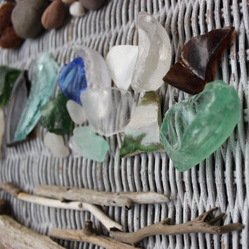 Keep it Coastal , Beach Driftwood / Sea Glass / Stones Treasure Collection , Nautical Home Decor Beach Comber Series BC60