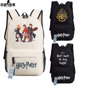 Fashion Harry Potter Hogwarts Backpack men women Children book Bag Students School Bags Travel Shoulder Bag for teenagers