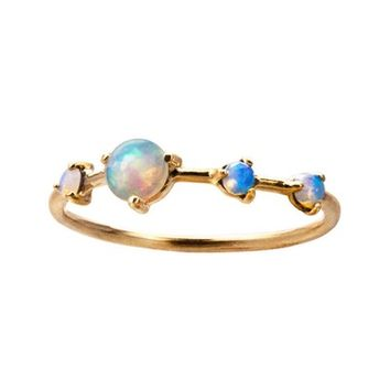 WWAKE Counting Collection Large Four Step Opal Ring | Nordstrom