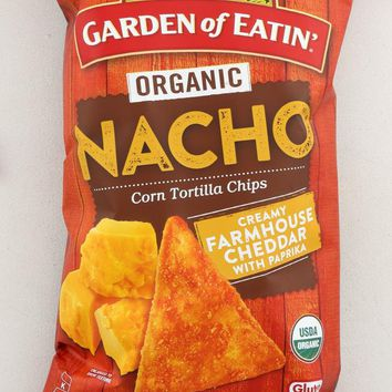 GARDEN OF EATIN: Organic Corn Tortilla Chips Nacho, 5 oz