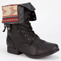 DIVA LOUNGE Jetta Womens Military Boots | Boots