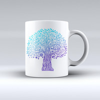 The Gradiated Tree of Life ink-Fuzed Ceramic Coffee Mug