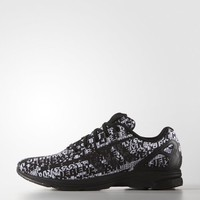 adidas ZX Flux Tech Logo Shoes - Black White | adidas US