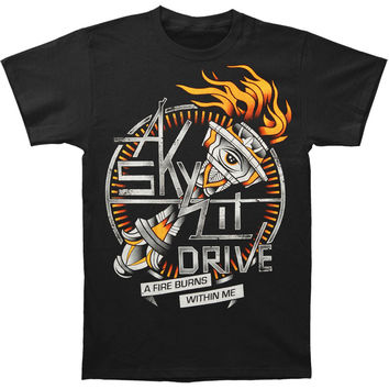 A Skylit Drive Men's  A Fire Burns Within Me T-shirt Black