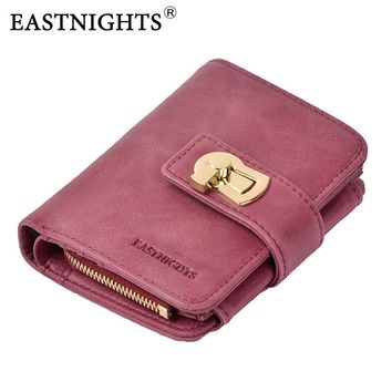 EASTNIGHTS New Women Wallets Brand Design High Quality Genuine Leather Wallet Lady Zipper Fashion Coin Purse Card Holder TW2643