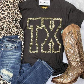 Leopard Outline TX Graphic Tee