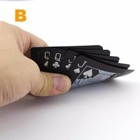 Black Plastic Waterproof Magic Box-packed Playing Cards