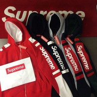 Supreme Hooded Fashion Print Top Sweater Hoodie Sweatshirt