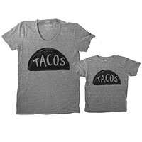 Mommy and Me Taco Shirts